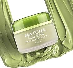 Matcha Green Tea Face Mask, Hawwwy 3 oz Mud Mask, Ancient Secret to Best Skin Care, Organic Jiangsu Facial, Anti Aging Pore Cleaner Removes Blackheads Moisturizing Clay Detox Lotion Cleanse All Skin