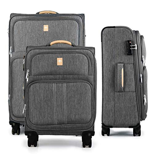 Set of 3 Lightweight and Robust Suitcases for Men and Women Travel Cabin