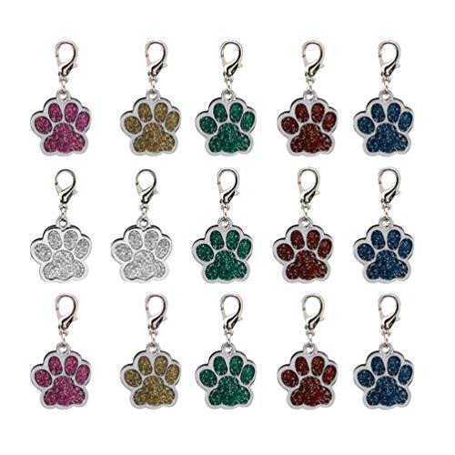 SUPVOX 15 piezas de aleación colgante encanto perro pata impresiones encantos colgante pata cuentas para collar diy pulsera color color aleatorio)
