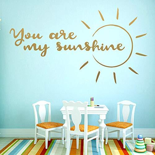 You are my sunshine adesivo da parete rimovibile in vinile per bambini decorazione per camera da letto wall sticker43cm X 77cm