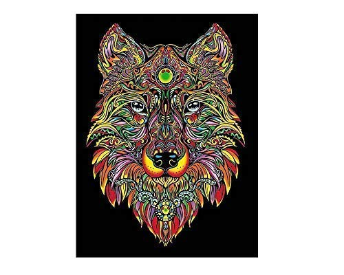 Colorvelvet 47 x 35 cm Wolf Zeichnen Ausmalen System (Großer, Mehrfarbig)