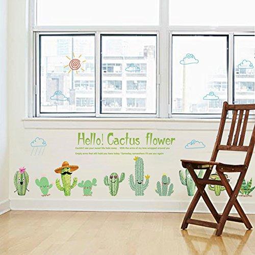 Bodhi2000 - Adhesivo decorativo para pared, diseño de cactus