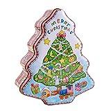 Bouder Weihnachtsdose Geschenkbox Baum Form Kekse Süßigkeiten Vorratsdose mit Deckel für Süßigkeiten Urlaub Deko Tragbare Weihnachtsbaum Dekoration Aufbewahrungsbox Light multi