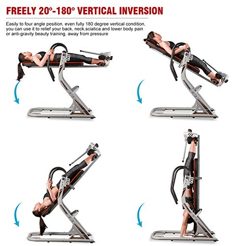 Product Image 2: HARISON Heavy Duty Inversion Table for Back Pain Relief 350 LBS Capacity with 3D Memory Foam, Back Inversion Chair with 180 Degree Full Inversion