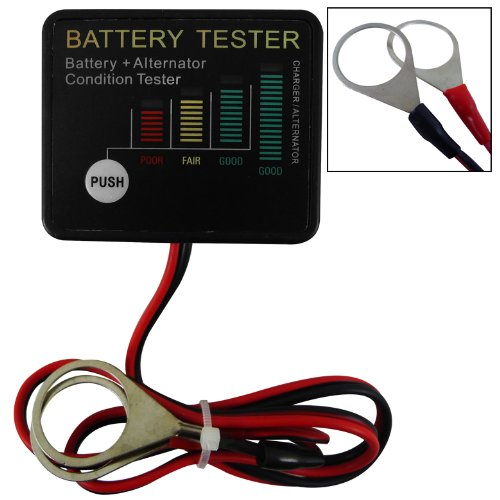 Best Prices! 12V Onboard LED Battery Tester For Automobiles Trucks Portable Automotive Accessory