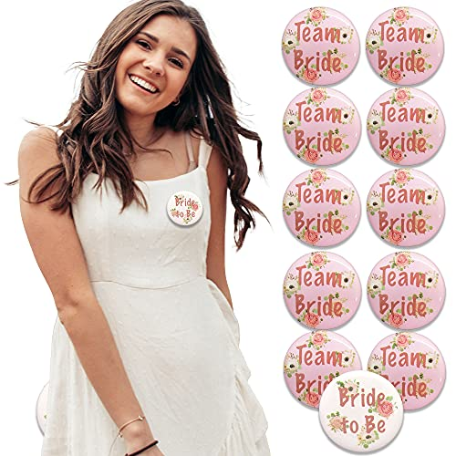 Blue Planet Fancy Dress 12 Pack Hen Party Team Bride Badges and 1 Bride to...