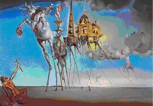 Impronte ipz268 - Puzzle de 1000 piezas, diseño de 'La tentación de San Antonio' de Dalí