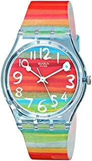 Swatch Women's GS124 Quartz Rainbow Dial Plastic Watch