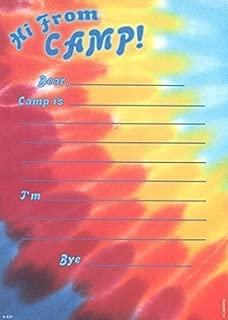 Lil' Pickle Kids Tye Dye Camp Camp Stationery, Fill-in Style, 10 Pack w/Stickers & Pen