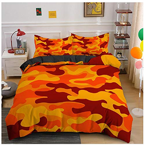 BAIYANG Home Textile Cool Boy Girl Kid Adult Duver Cover Set Camouflage Bedding Sets King Queen Twin Comforter Covers With Pillowcase 2/3Pcs King(230x220cm)