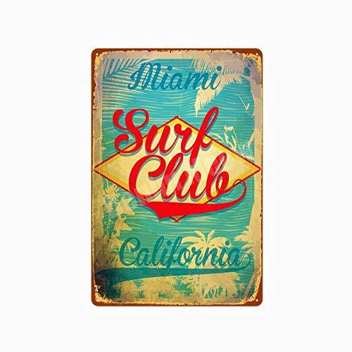 shovv Metallblechschild Strand Surf Poster Vintage Metallblechschild Hawaii Party Kunst Malerei Pub Bar Club Outdoor Home Dekoration Miami Wandaufkleber