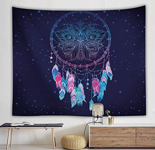 Tapiz blanco y negro colgante de pared dormitorio decoración de fondo manta hippie tapiz psicodélico de moda A4 150x200cm