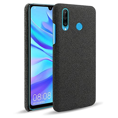 Capa Grandcase para Huawei P30 Lite, tecido de feltro ultrafino, antidigitais e absorção de choque, capa protetora para Huawei P30 Lite/Nova 4e 6,1 polegadas – Preto
