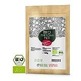 NATURAL VITAMINS® Bio Matcha aus Japan 100g I Matcha Tee Pulver fein gemahlen I Laborgeprüft, Vegan, ohne Zusätze I Grüntee-Pulver für Latte, Smoothies, Matcha-Getränk