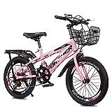 Axdwfd Infantiles Bicicletas Bicicleta De Montaña De 18 O 20 Pulgadas, Engranajes De 21 Velocidades, Suspensión Delantera, Bicicleta para Niños, 3 Colores(Size:18in,Color:Rosa)