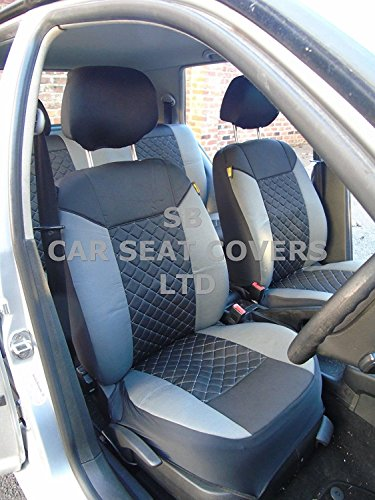 R – Adecuado para Land Rover Range Rover EVOQUE coche, fundas de asiento, color gris Rossini / dia