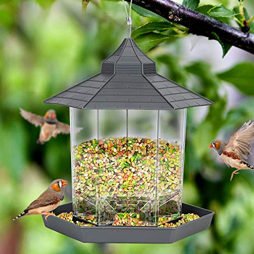 Wild Bird Feeders for Outside HangingBird Seed for Outside Feeders for Garden Yard Outdoor Decoration Grey
