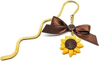 Segnalibro bacchetta oro con girasole