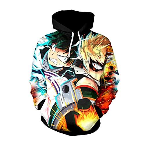 El Mismo Suéter Alrededor De My Hero Academia Jersey De Manga Larga con Estampado Digital Suéter De Pareja para Otoño E Invierno