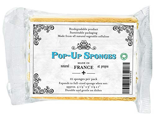 Get - BIOSPG12 French Pop Up Kitchen/Dish Sponge (Pack of 12), Tan