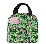 Gorillas Emerald Forest Print Bolsa de almuerzo portátil aislada impermeable para el trabajo, viajes, senderismo, picnic