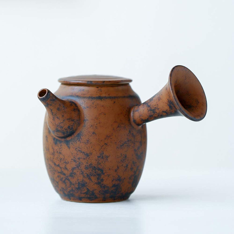 Teiera, Vaso Laterale in Ceramica Set da tè in Ceramica Fatto a uomoo in Stile Giapponese Kungfu Teiera Piccola teiera con Forno in Ceramica