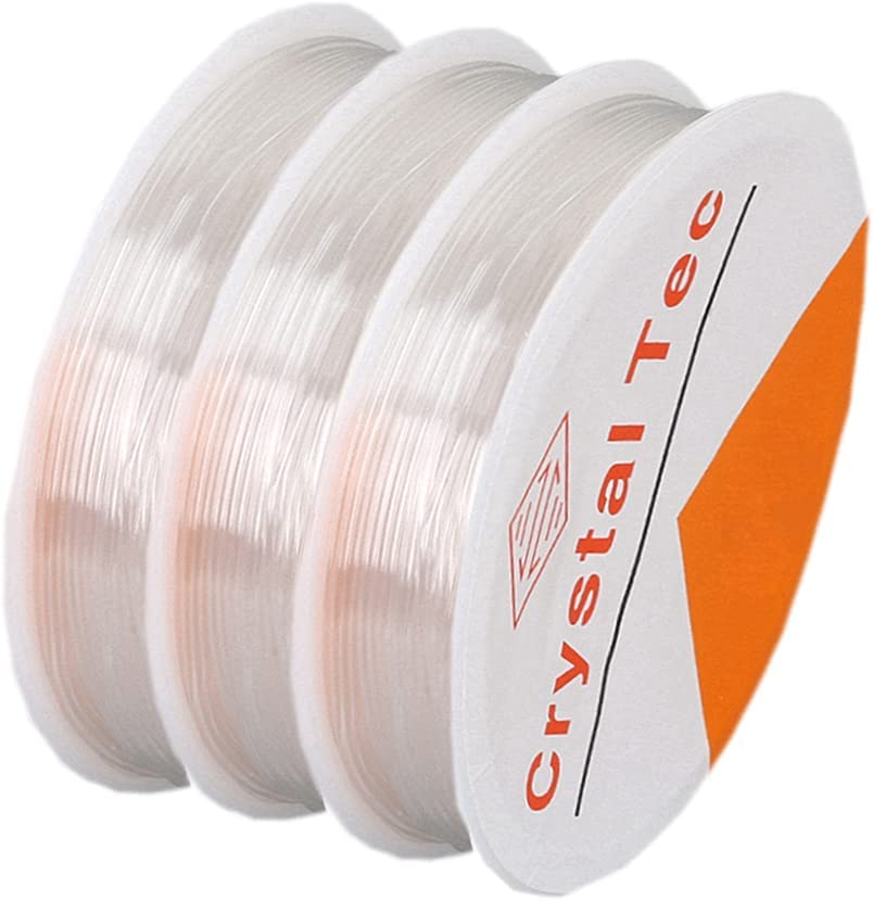 Stretchy Max 61% OFF outlet String for Bracelets Rolls Clear Elastic 3
