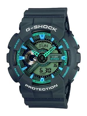 Casio G-Shock – Reloj Hombre Analógico/Digital con Correa de Resina – GA-110TS