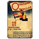 NNHG Cartel de metal retro de Barcelona para decoración de pared del hogar, acuario, garaje, 8 x 12 pulgadas
