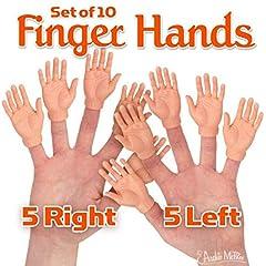 """Set Of Ten Finger Hands Finger Puppets Offer Is Ten Finger Hands Each Is 2 3/4"""" Tall Made Of Vinyl"""
