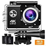 Action Cam 4K 16MP Wifi Action Kamera BUIEJDOG Sports Cam Ultra Full HD 2' LCD 170 ° Weitwinkel 30...