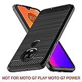 E-outfit Moto G7 Case,Moto G7 Plus Case,Moto G (7th Generation) Case, Slim Soft TPU Protective Rubber Bumper Case Cover for Motorola Moto G7/G7Plus Phone (Black)