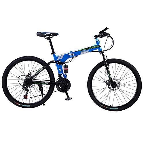 Vélo de Course Pliable Leopard vélo de Montagne 26 Pouces en Acier Vélos à 21 Vitesses Freins à...