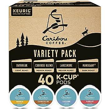 Keurig Caribou Coffee Favorites Variety Pack Single-Serve Coffee K-Cup Pods Sampler 40 Count