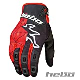 HEBO HE1235RM Enduro Sway Mx Collection Guantes, Rojo, Talla M