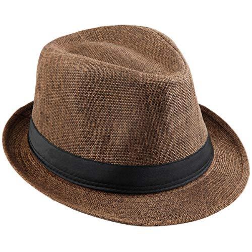 KYEYGWO KYEYGWO Fedora-Hut Mode Filz Gangster Hüte für Mann und Frau, Trilby Snap breiter Krempe Vintage Style Dress Hut