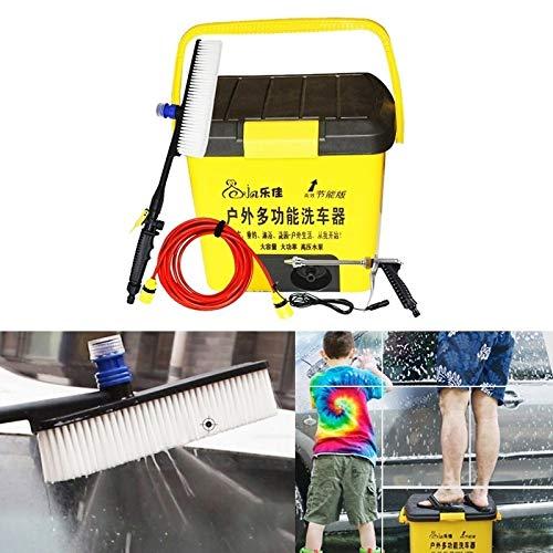 Herramientas for el lavado LEJA HL-25L al aire libre de múltiples funciones del coche eléctrico Lavadora automática de vehículos, almacenamiento de agua: 25L, 220V AC (amarillo) Alta calidad
