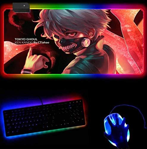 YYTTLL RGB Alfombrilla De Ratón para Juegos Tok-Yo GH-OUL Alfombrillas De Ratón para Juegos Alfombrilla De Ratón para Juegos Gadget Office Padmouse Pad Juegos Pc Alfombrillas para Jugadores (30X80Cm)
