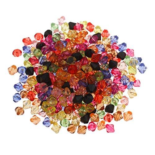 Perlin - 1500stk Kunststoffperlen 6mm Spacer Acrylperlen Doppelkegel Plastik Perlen für Bastelset Bastelzubehör Schmuckdesign Schmuck Selber Machen D806A x2
