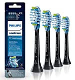 C3 Premium Plaque Control Standard Sonic Toothbrush Replacement Brush Head Compatible with Philips Sonicare DiamondClean Smart 9300,9500,ProtectiveClean Electric Toothbrush,4 Pack,HX9044 (Black)