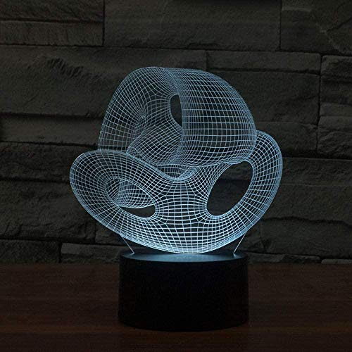 Tatapai 3D Night Light Simple Creative Led Night Desk Lamp Acrylic Glass Shop Coffee 3D Led Lamp 5V Electronic Gift Table Lamp for Bedroom