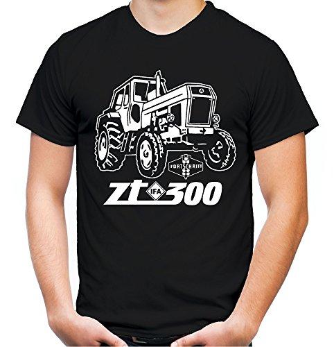 Traktor ZT Männer und Herren T-Shirt | 300 Oldtimer DDR Landwirt Bauer | M1 (XL, Schwarz)