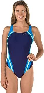 Speedo Women's One Piece Swimsuit-Quantum High Cut, Removable Cups
