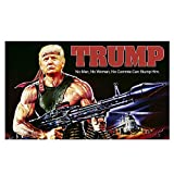 Trump Rambo Flag, 2020 Donald Trump Flag Gun Commie 3x5 Feet Keep America Great Flag for Light Weight Breeze Flying, Donald Trump for President 2020 Flag 3x5 FT with Grommets Rocket Launcher