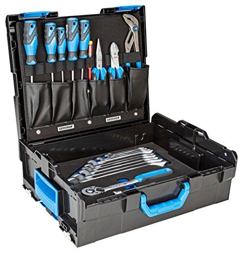 Preisvergleich Produktbild GEDORE 1100-004 / 30-teiliges Starter-Werkzeugsortiment in praktischer L-BOXX 136 / Ring-Maulschlüssel / Hebel-Umschaltknarre / Schraubendreher / Universalzange / Spannungsprüfer / Mehrfachzange