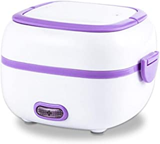Heated Lunch Box,electric Heated Lunch Box,electric Lunch Box Multi-function Mini Portable Stainless Steel+PP Orange/purpl...