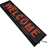 VEVOR Led Sign 40 x 8 inch Led Scrolling Sign P10 Red Digital Led Message Display Board Programmable by PC& WiFi & USB with SMD Technology for Advertising and Business
