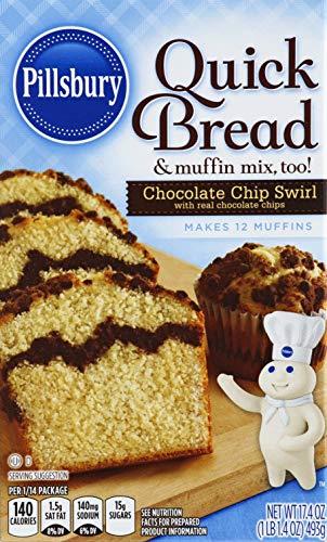 Pillsbury Chocolate Chip Swirl Quick Bread & Coffee Cake Mix, 17.4-Ounce (Pack of 12)