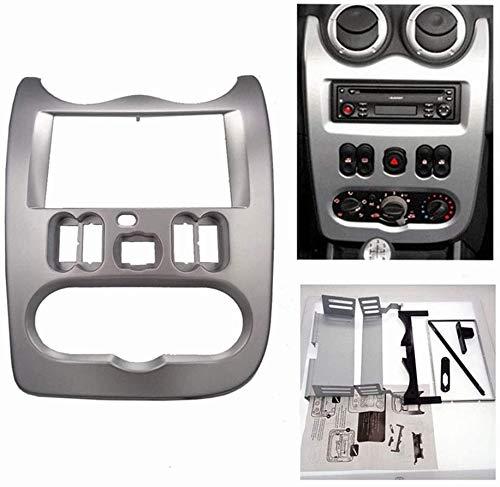 KAOLALI - Adattatore autoradio doppio DIN per autoradio compatibile con Re nault Logan