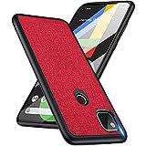 cookar cover google pixel 4a custodia,caso protezione esatta antiurto,ultra robusta tpu+pc ibrido doppio strato anti-graffio cover protettiva case per google pixel 4a -rosso
